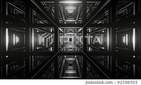 dark structure tunnel background illustration 3d render 62196503