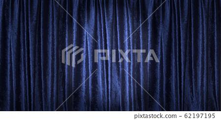 Blue velvet curtain (spotlight) 62197195