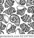 Vector illustration of marine seamless pattern. 62197363