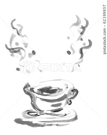 흑백, 흑백, 흑백 단색, 커피, 커피 이미지 연기, 복사 공간, 여백, 62199937