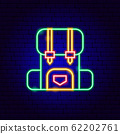 Camping Backpack Neon Sign 62202761