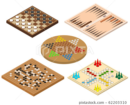 Board Games Sign 3d Icon Set Isometric View. Vector 62203310