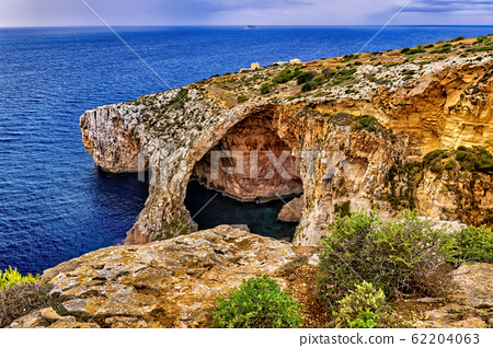 Blue Grotto Sea Cavern in Malta Island 62204063