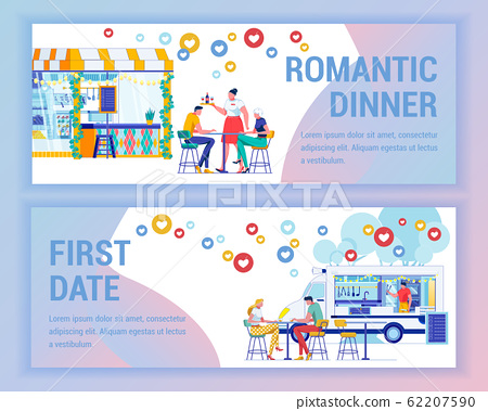 Romantic Dinner in Cafe and First Day at Foodtruck 62207590