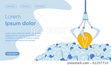 Good Idea Choice Flat Landing Page Vector Template 62207714