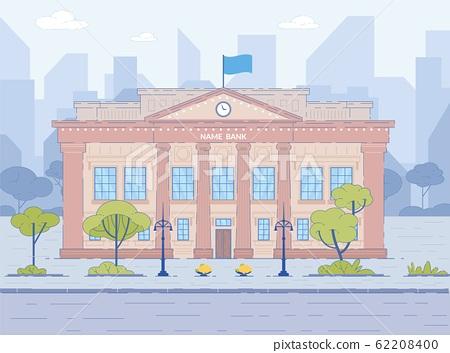 Bank Building Facade Exterior Cityscape Background 62208400