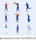 Various Human Types - Professions and Activities. 62208516