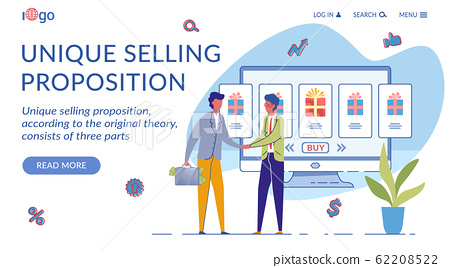 Unique Selling Proposition Landing Page Template 62208522