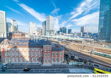 城市景觀KITTE花園的東京城市景觀 62208899