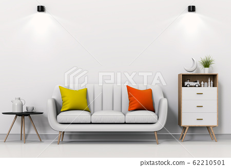 interior living lighting room with sofa. 3D render 62210501