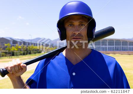 Baseball player looking at camera 62211847