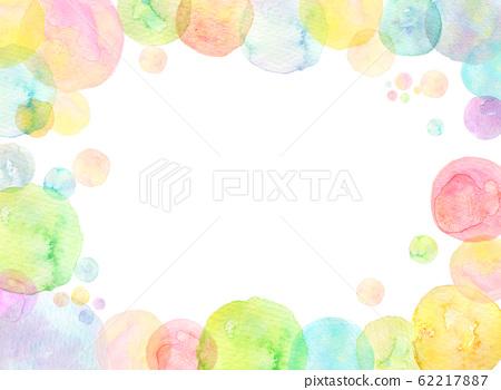 Watercolor texture rainbow color soap bubble 62217887