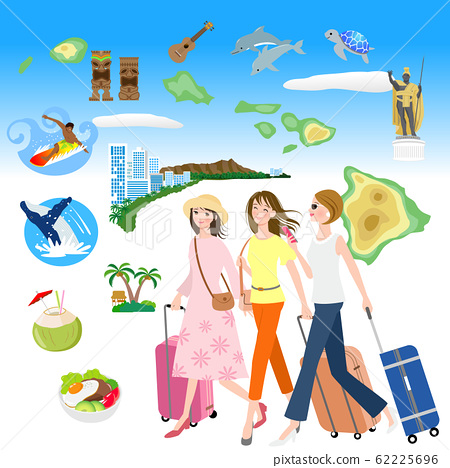 夏威夷旅行女孩旅行 62225696