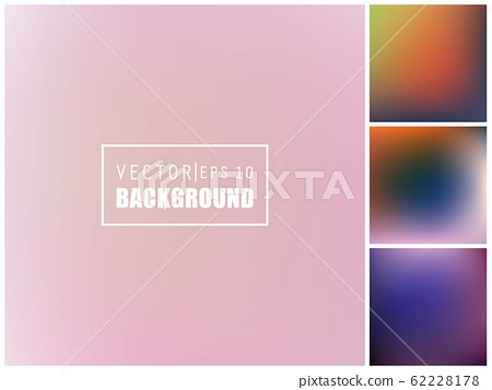 Abstract Creative concept vector multicolored blurred background set. For Web and Mobile 62228178
