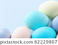 Easter easter egg hand made blue background dyed colored close-up easter eggs イ ー ス タ ー エ ッ グ 62229807
