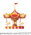 Carousel merry go round with horses isolated. 62233237