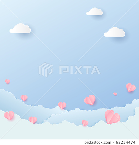 Origami Happy Valentines Day Greetings Card Stock Vector (Royalty ... | 468x450