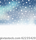 Christmas background with falling snowflakes on 62235420