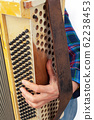 The musician playing the accordion 62238453