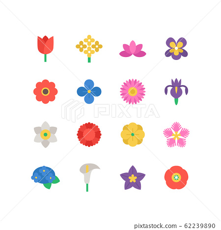 FLOWER ICON SET 62239890