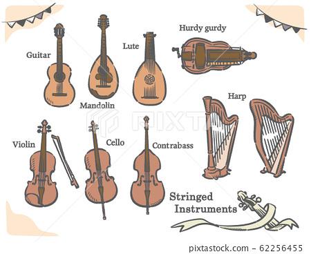 弦樂器圖材料集 62256455