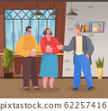 Man at Friends Place, Modern Home Reception Vector 62257416