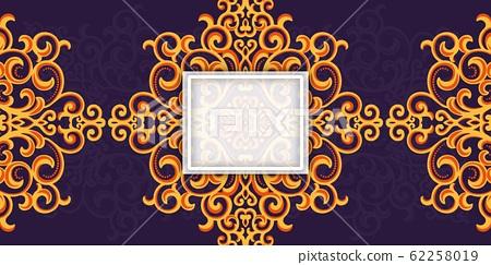華麗奢侈的複古巴洛克圖案 62258019