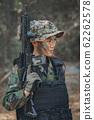 Portrait of a woman soldier 62262578