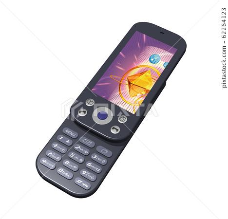 휴대 전화 - 슬라이딩 일러스트 62264123
