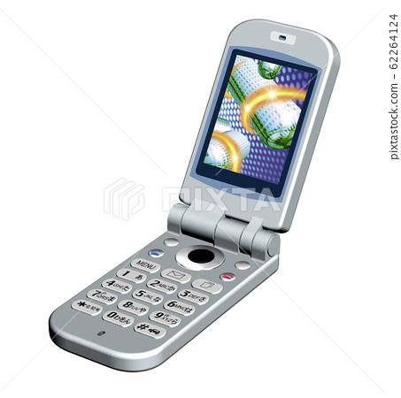휴대 전화 - 접이식 일러스트 62264124