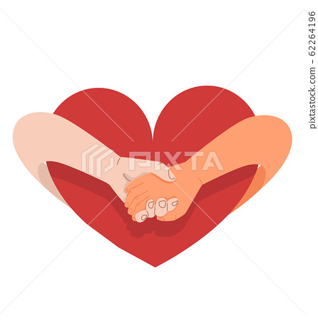 hands holding promise isolated on a white 62264196