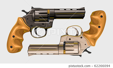 two classic revolvers on white 62266094