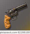 black revolver with wooden handle 62266100