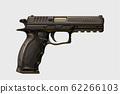 realistic modern handgun on white 62266103