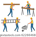 Construction Works, Workers with Tool or Materials 62266468