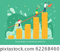 Teamwork to Increase Profits Businessman Vector 62268460