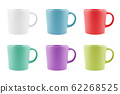 Colourful Mugs Set, Blank Ceramic cup Isolated on 62268525