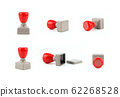 Rubber Stamp From Different sides, Blank object  62268528