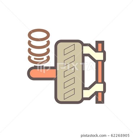 car wheel icon 62268905