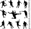 soccer players silhouettes collection 62268951