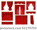 Red curtains, opera, cinema, theater stage drapery 62270703