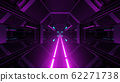 3d illustration background wallpaper with space hangar tunnel corridor with glowing light bottom graphic artwork 62271738