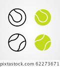 Set of tennis ball icon vector. 62273671