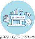 藥房開業諮詢圖標3種顏色 62274929