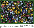Wild  Life Doodle Icons Hand Made , Vector 62275616