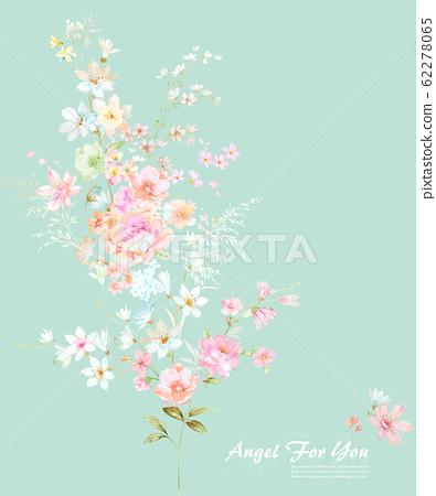 色彩豐富的水彩花卉素材組合 62278065