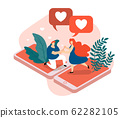 Virtual Love Isometric Composition. 62282105