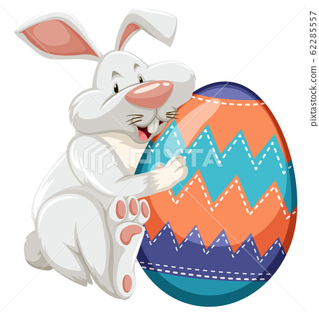 Easter theme with decorated egg in colorful 62285557