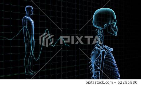 인체 뼈 메디컬 인간 체 의료 의학 두개골 엑스레이 3D 일러스트 CG 배경 62285880