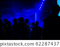 Group of people having fun at music concert 62287437